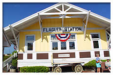 front of Flagler Station museum