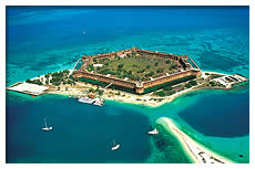 aerial view of fort jefferson dry tortugas national park