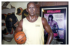 michael jordan wax figure