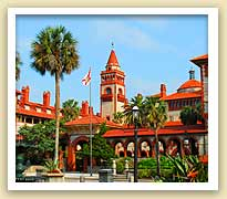 picture of exterior of Flagler College in St. Augustine, Florida