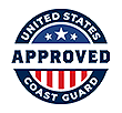 seal that reads 'United States Coast Guard Approved'