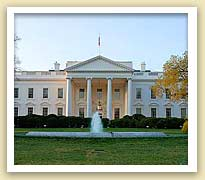 picture of exterior of front of the White House in Washington DC